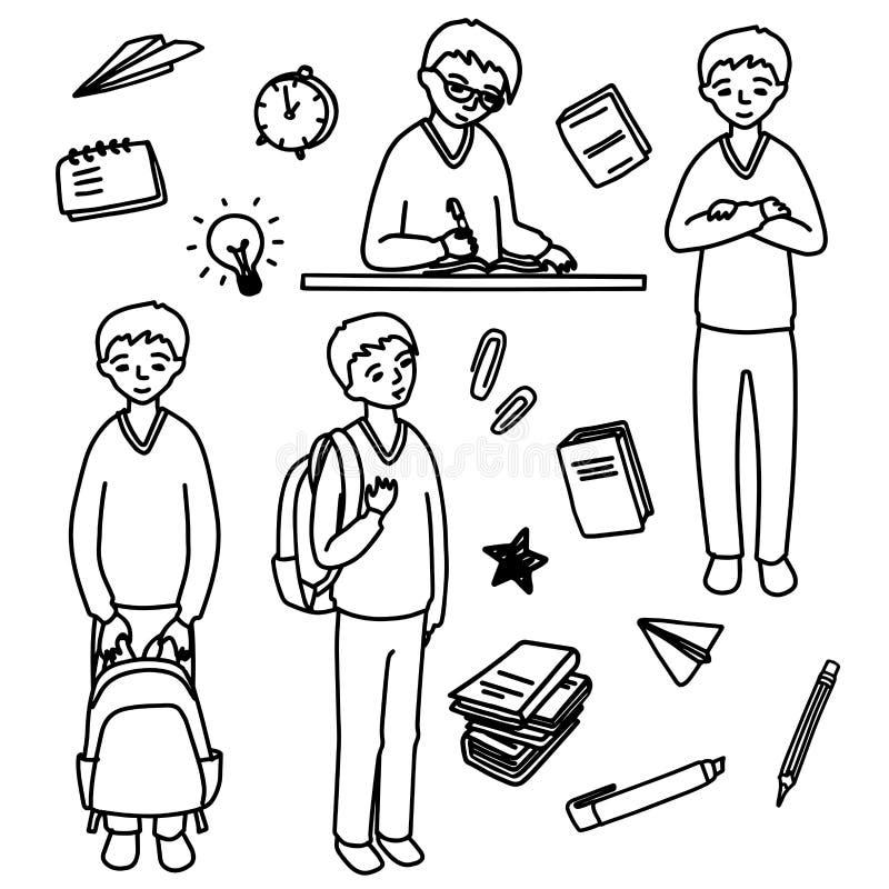 Écolier illustration libre de droits