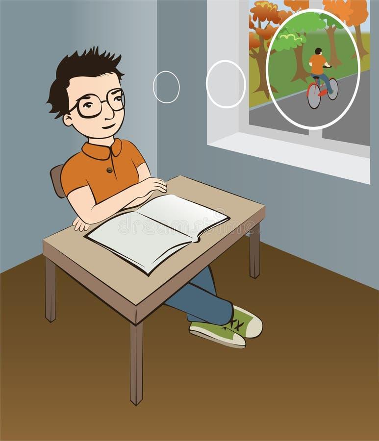 Écolier illustration stock