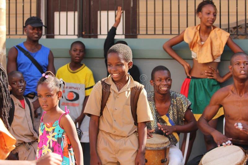 Écolier Jamaïque image libre de droits