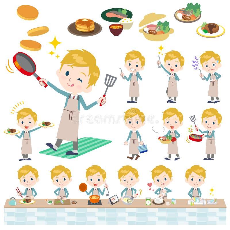 Écolier White_cooking illustration libre de droits