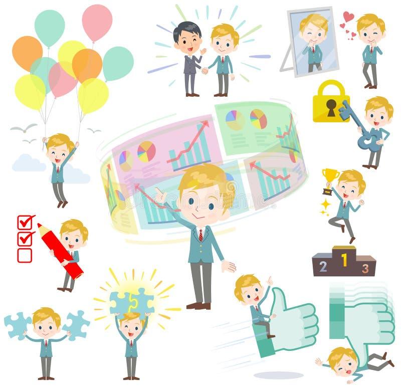 Écolier White_success et positif illustration stock
