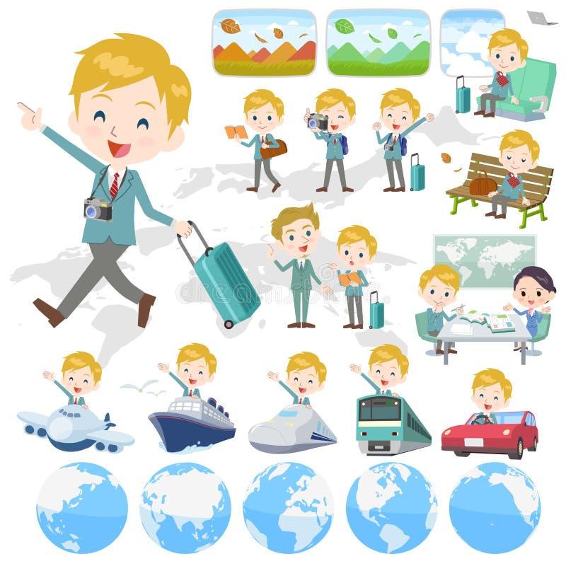 Écolier White_travel illustration de vecteur