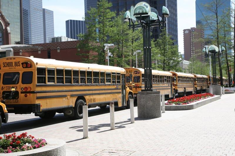 Écoliers d'une excursion sur le terrain image libre de droits
