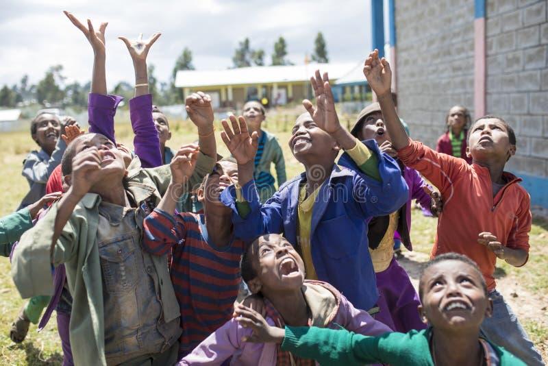 Écoliers en Ethiopie photographie stock libre de droits