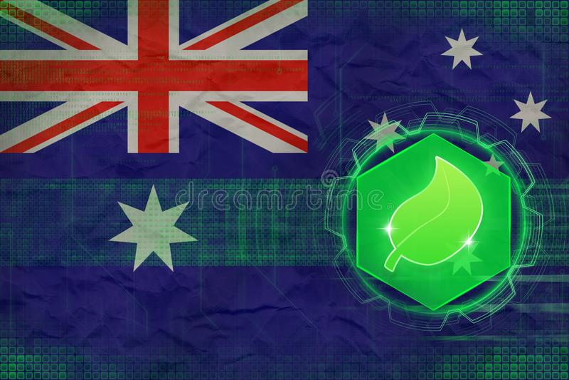 Écologie d'Australie Concept de sécurité d'écologie illustration de vecteur