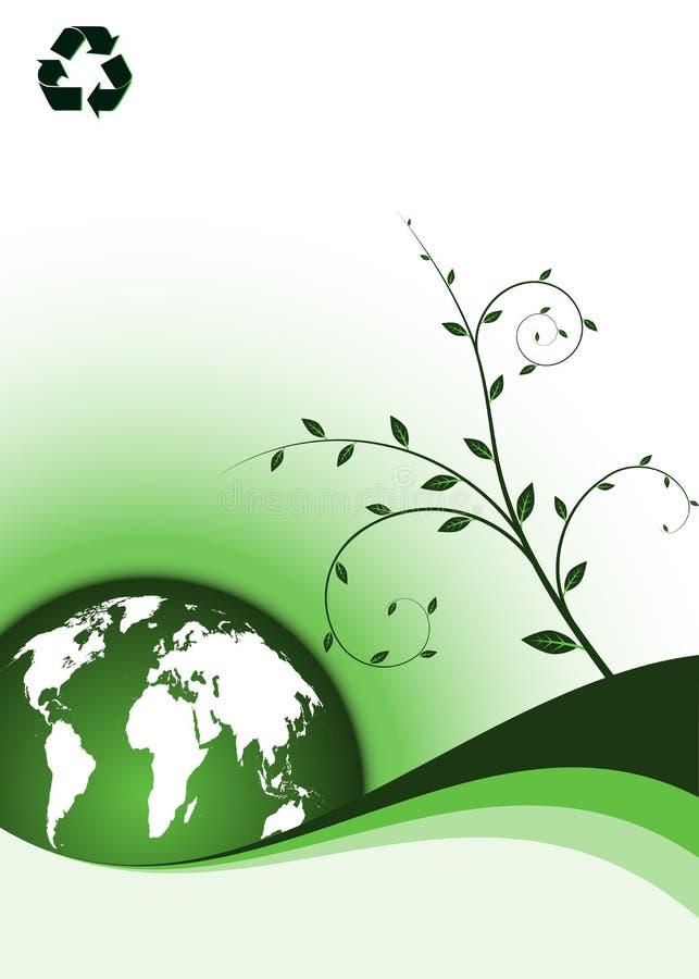écologie de fond illustration de vecteur