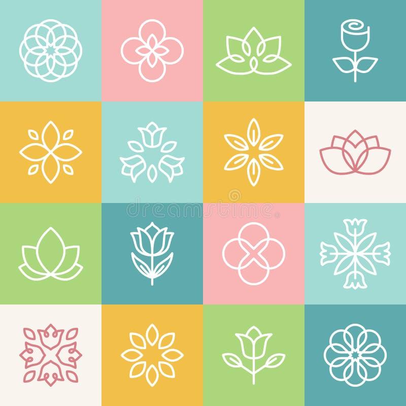 Écologie de vecteur et logos organiques illustration libre de droits
