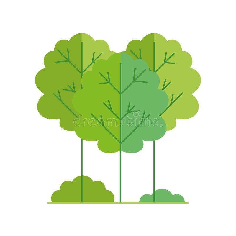 Écologie environnement renouvelable Icône nature forestière illustration libre de droits