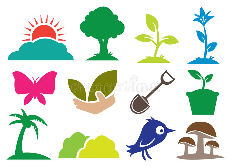 Écologie et graphismes normaux illustration libre de droits