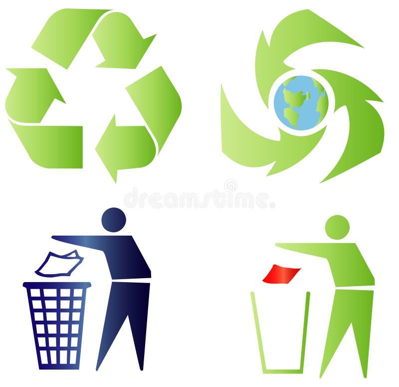 Écologie et signes de réutilisation illustration libre de droits
