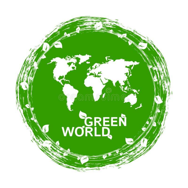 Écologie urbaine Concept plat de vecteur du monde vert illustration de vecteur