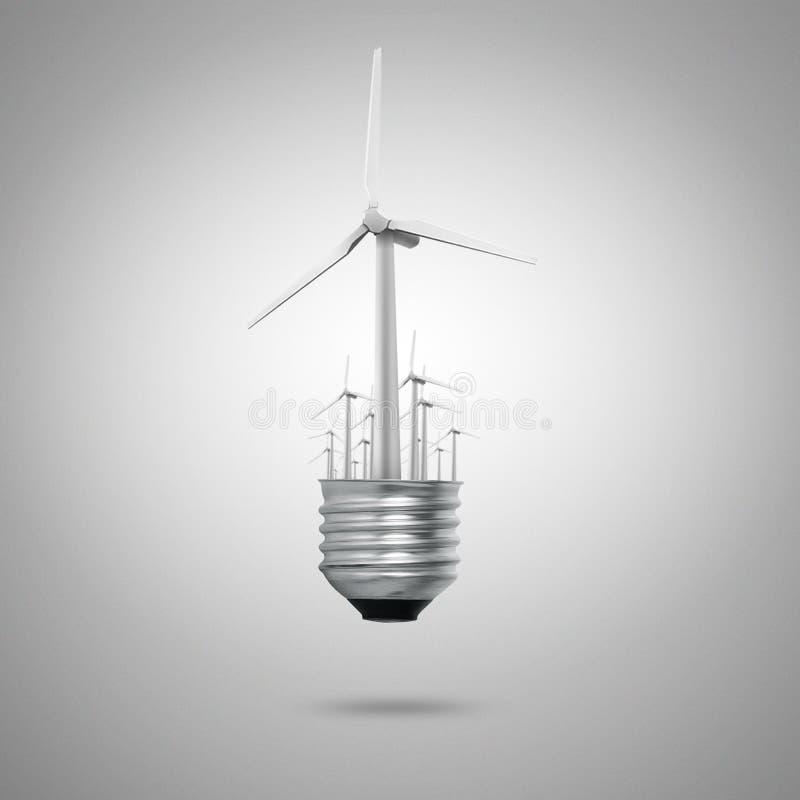 Écologie verte de symboles d'énergie photographie stock libre de droits