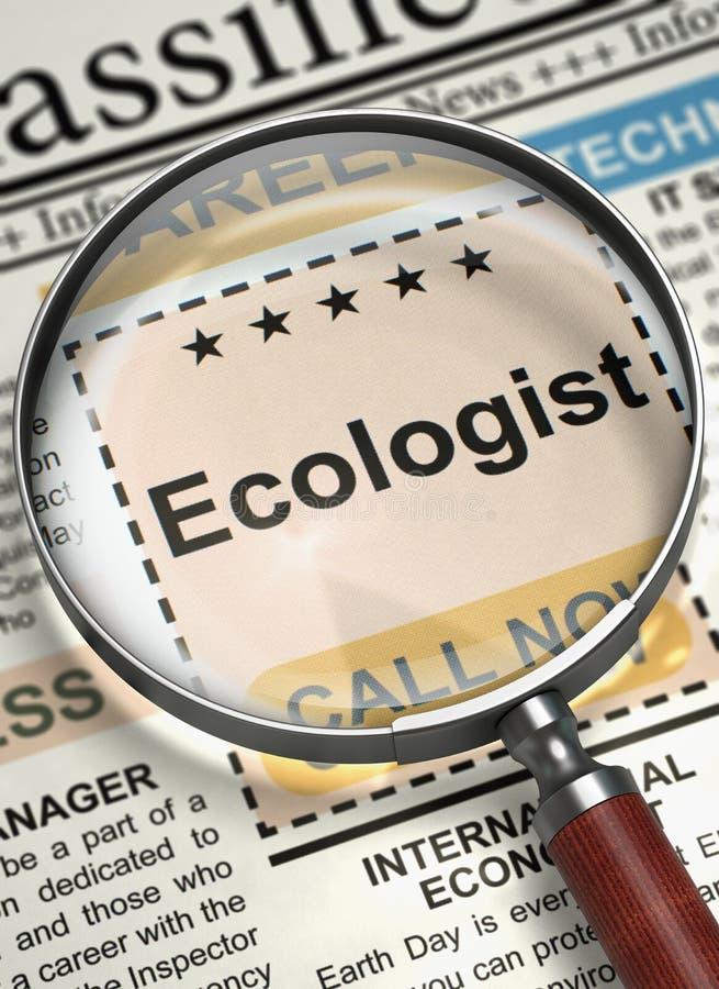 Écologiste Hiring Now 3d illustration stock