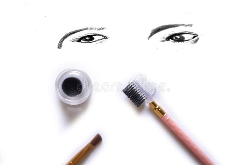 Économe de maquillage d'oeil d'isolement sur le blanc photographie stock libre de droits