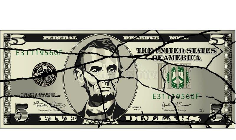 Économie battue illustration libre de droits
