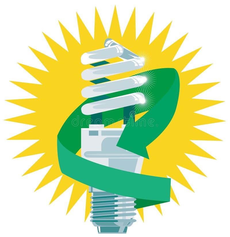 Économie d'énergie d'ampoule illustration de vecteur