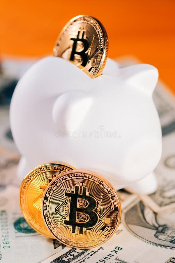 Économie de Bitcoin et concept d'investissement photos libres de droits