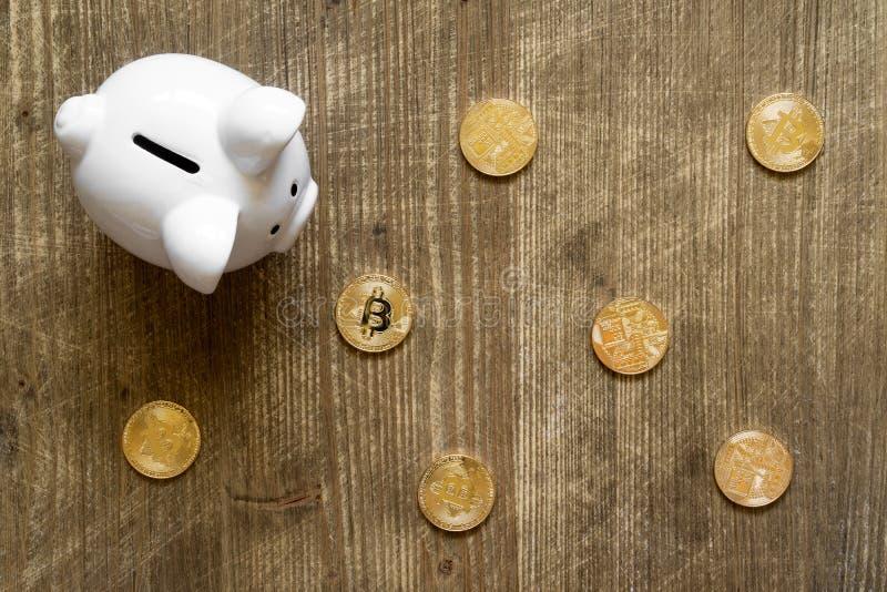 Économie de Bitcoin et concept d'investissement photos stock