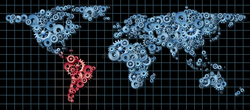 Économie de l'Amérique latine illustration de vecteur