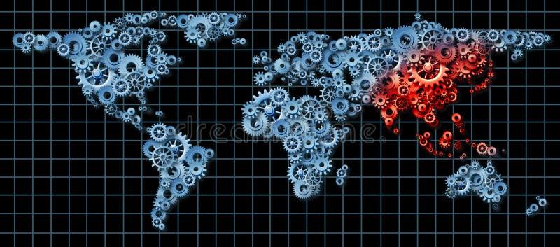 Économie de l'Asie illustration libre de droits