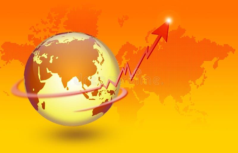 économie globale illustration de vecteur