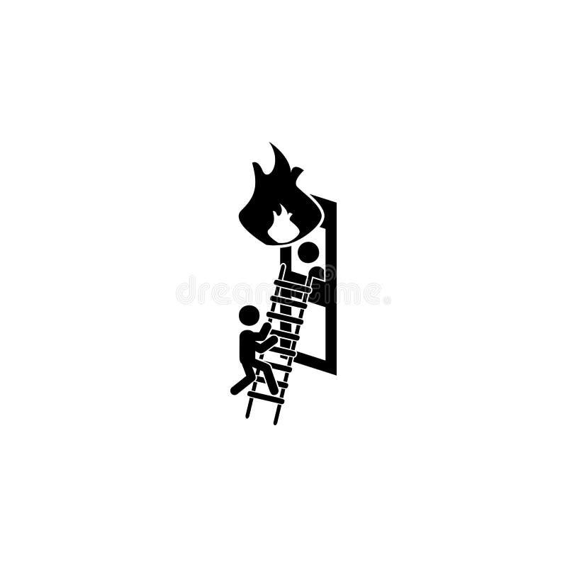 Économies de sapeur-pompier d'une icône du feu Icône d'élément de pompier illustration stock