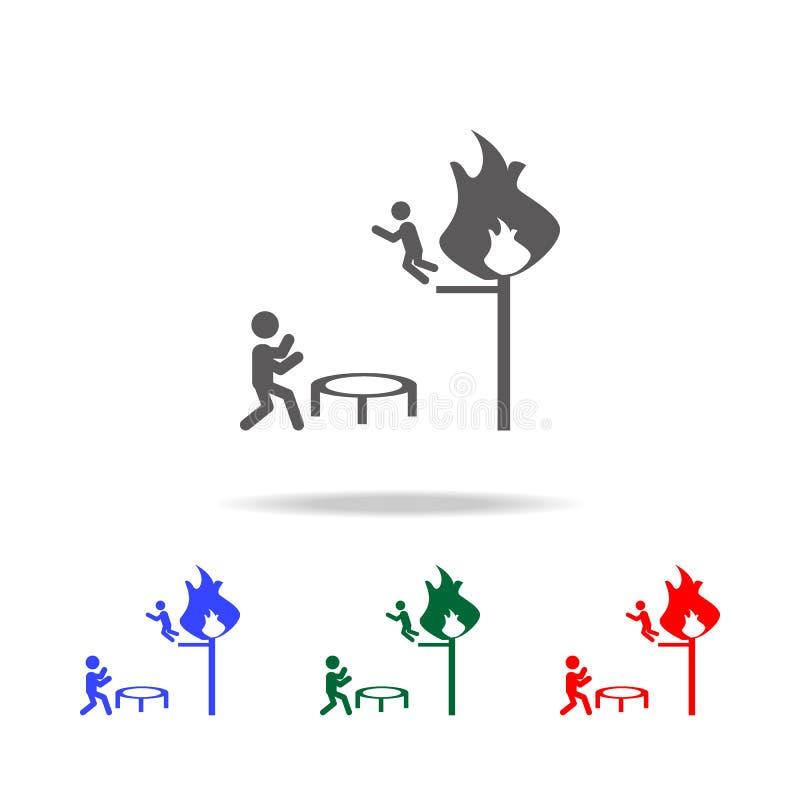 Économies de sapeur-pompier d'une icône du feu Éléments des icônes colorées multi de sapeur-pompier Icône de la meilleure qualité illustration stock