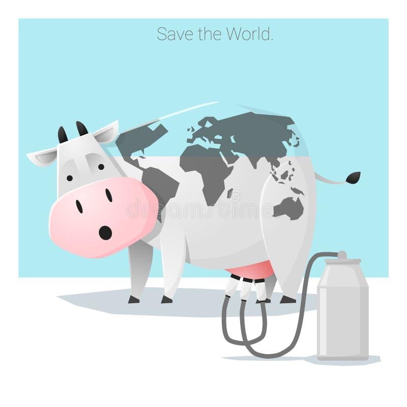Économies globales de concept d'écologie le monde avant qu'il soit trop tard illustration de vecteur
