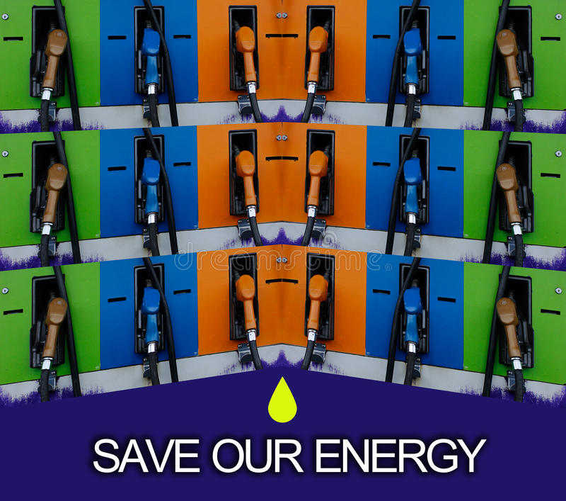 Économisez notre énergie photo stock