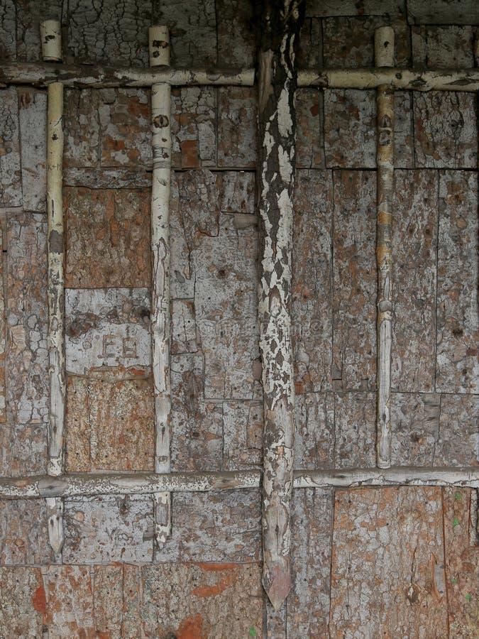 Écorce sur le mur comme décoration photos libres de droits