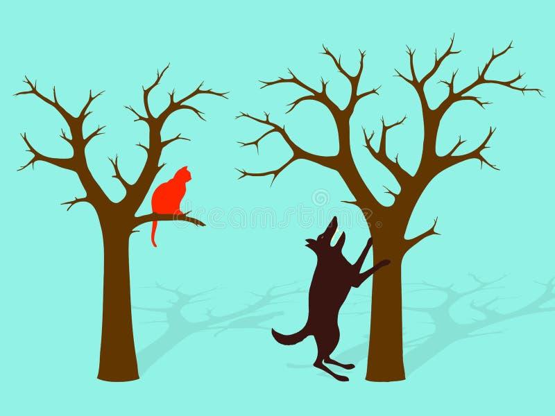 Écorcement vers le haut de l'idiome faux d'arbre illustration stock