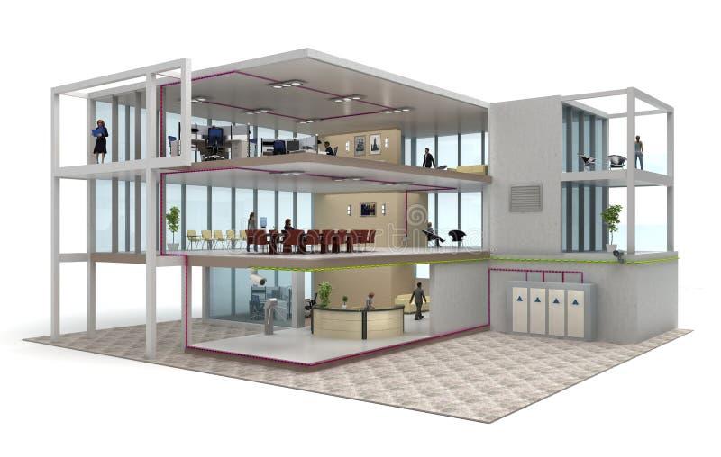 Écorché d'immeuble de bureaux illustration de vecteur