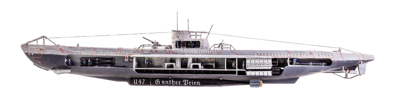 Écorché d'U-bateau images stock