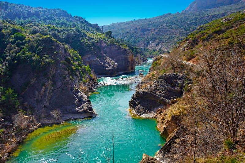 Écoulement de la rivière Aragon photo stock
