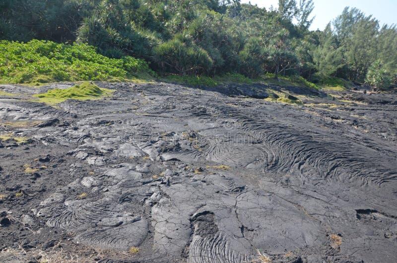 Écoulement de lave sec, Reunion Island, France photos libres de droits