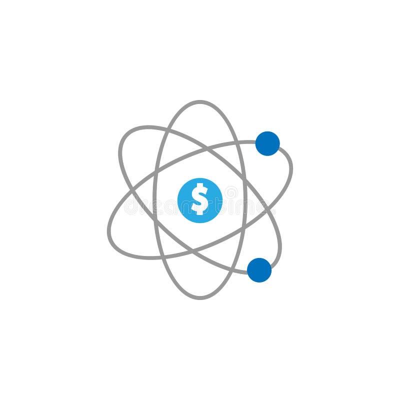 Écoulement et argent et icône de chiffre d'affaires Élément d'icône d'interface utilisateurs pour des applis mobiles de concept e illustration stock