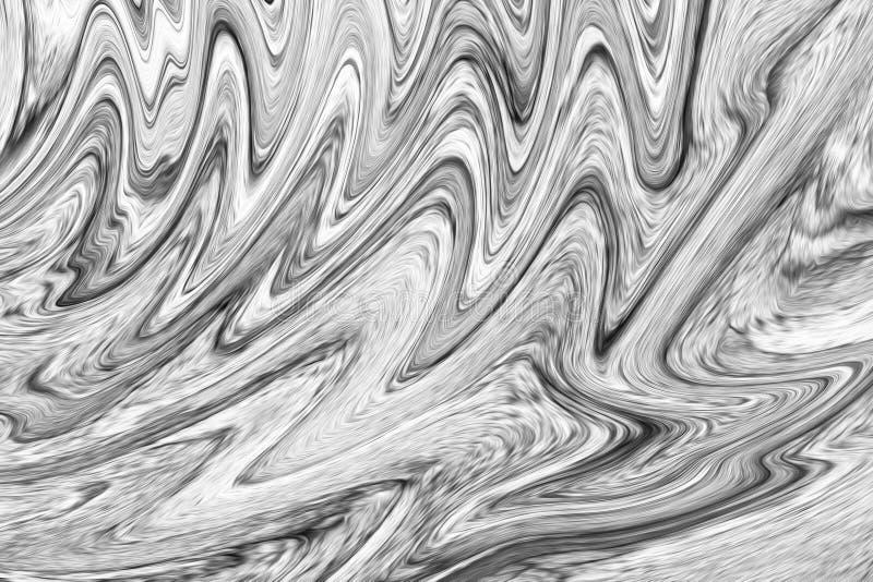 Écoulement foncé de Digital Grey Background With Spread Liquify Modèle de liquéfaction de couleur noire et blanche photos libres de droits