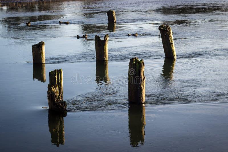 Écoulement tranquille de rivière photo stock