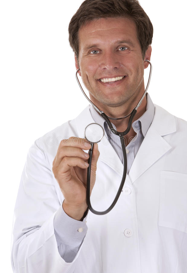 Écoute de docteur image libre de droits