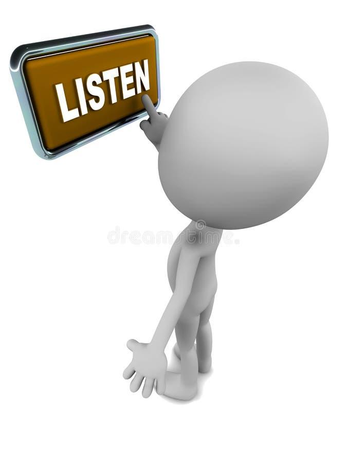 Écoutez illustration stock