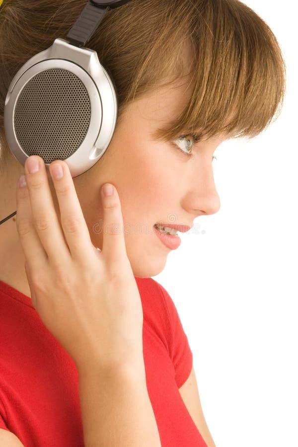 Écouter la musique photos stock