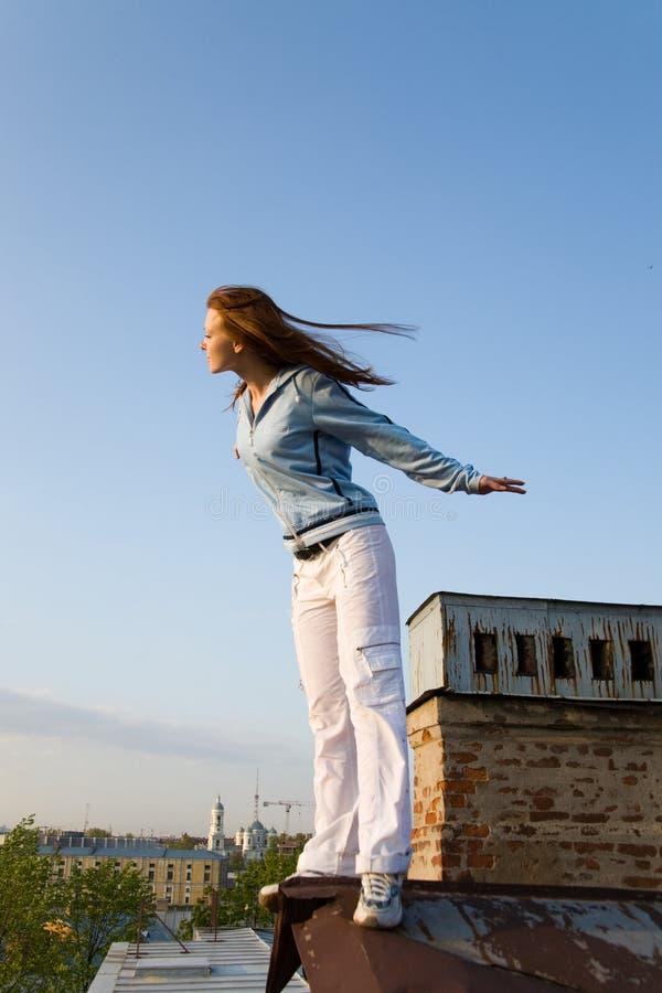 Écouter le vent photographie stock libre de droits