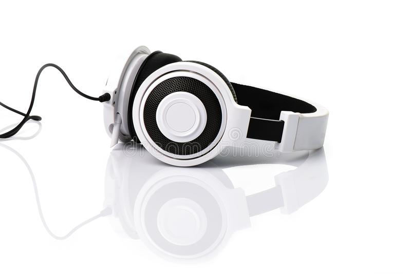Écouteur blanc images stock
