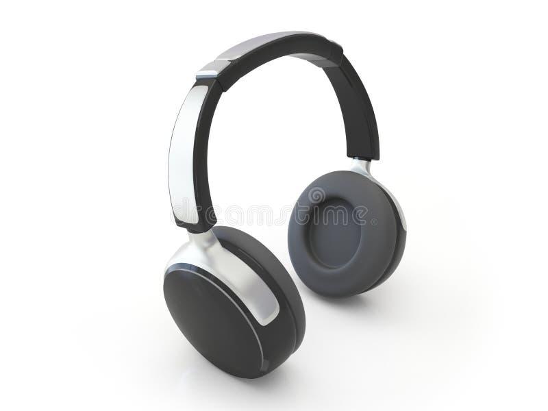 écouteurs 3d illustration libre de droits