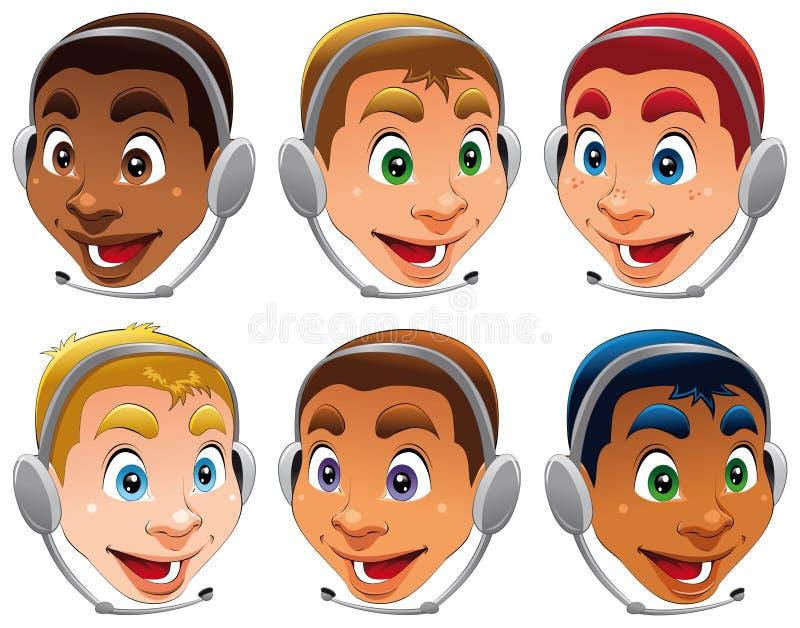 Écouteurs illustration libre de droits