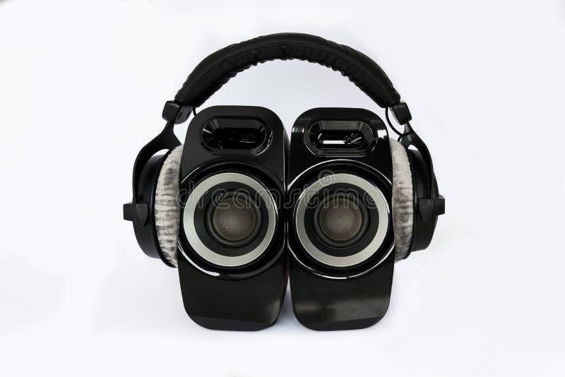 Écouteurs avec des haut-parleurs image stock