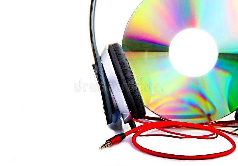Écouteurs avec du Cd photo libre de droits