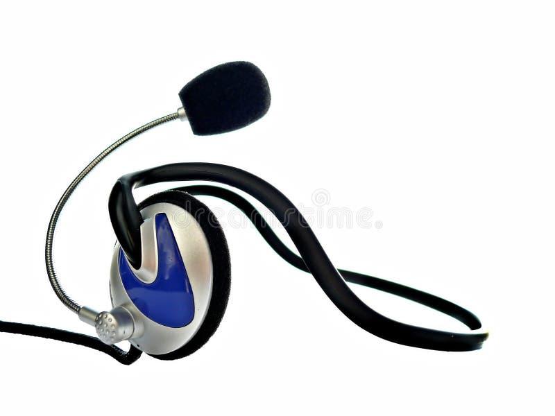 Écouteurs avec le microphone photo stock