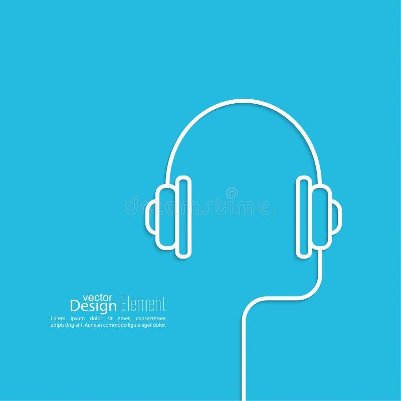 Écouteurs avec un fil illustration libre de droits
