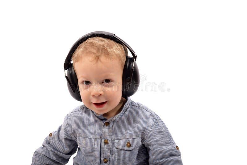 Écouteurs de bébé photo libre de droits